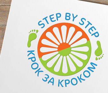 Логотип проекта КРОК ЗА КРОКОМ