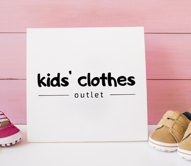 Логотип kids' clothes outlet